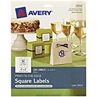 Avery Permanent Squareラベル、ホワイト、インクジェット/レーザー Pack of 120