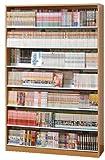 漫画1078冊 収納力2倍のひな壇式 コミック本棚 幅119cm ディスプレイスタンド3セット付 (ナチュラル N)