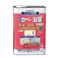 アトムハウスペイント 水性かべ・浴室用塗料(無臭かべ) 14L アイボリー