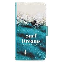 IMPX シンプルスマホ4 707SH ケース 手帳型 カバー スタンド機能 カードホルダー Surf Dreams 波