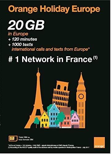 OKV Orange Holiday ヨーロッパ - プリペイドSIMカード ー 4G通信 20GB 120分 SMS 1000通 (20GB)