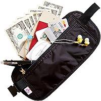 パスポート セキュリティポーチ ウェストポーチ 旅行 パスポートケース 旅行便利グッズ 海外旅行 スキミング防止 薄型