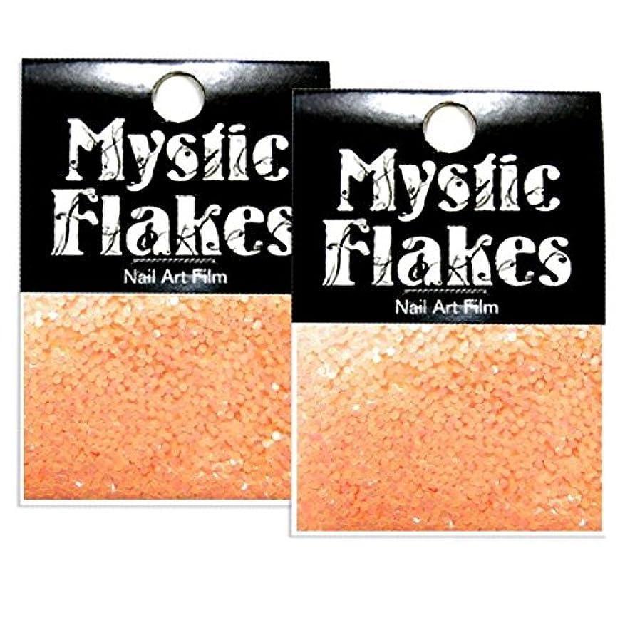 血色の良いアクセシブル効率的ミスティックフレース ネイル用ストーン ルミネオレンジ サークル 1mm 0.5g 2個セット