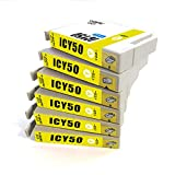 ICY50 イエロー 6個セット エプソン 互換インク EPSON IC50 Y 1年保証付 ICチップ付 プリンター保証付