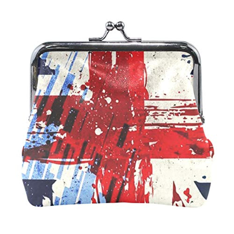 がま口 小銭入れ 財布 イングランドの国旗 コインケース レザー製 丸形 軽量 人気 おしゃれ プレゼント ギフト 雑貨