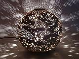 岩手県陶芸品 夢灯・ランプシェード 銀河 ≪焼しめタイプ≫ (手作りランプ・アロマ皿付)