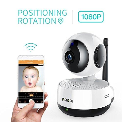 FREDI ネットワーク監視防犯カメラ 1080P高画質HD...