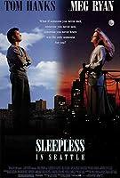 スリープレスin Seattle映画ポスター27x 40、トム・ハンクス、メグ・ライアン、A、Made in the U。S。A。
