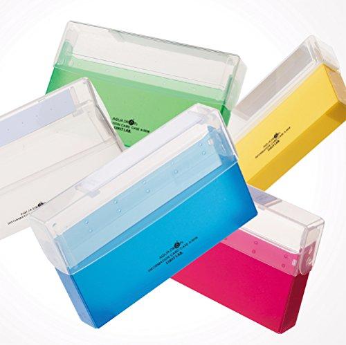 リヒトラブ 情報カードケース 5×3インチ 乳白 A5019-1