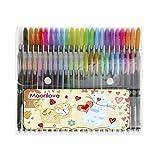 カラーペン 48本 多色 ジェルインクボールペン 1.0mm 太字 マーカーペン グリッターペン ネオカラーペン パステルペン メタリックペン かわいい 塗り絵 お絵描き イラスト ポストカード 年賀状 DIY 工作 絵画道具