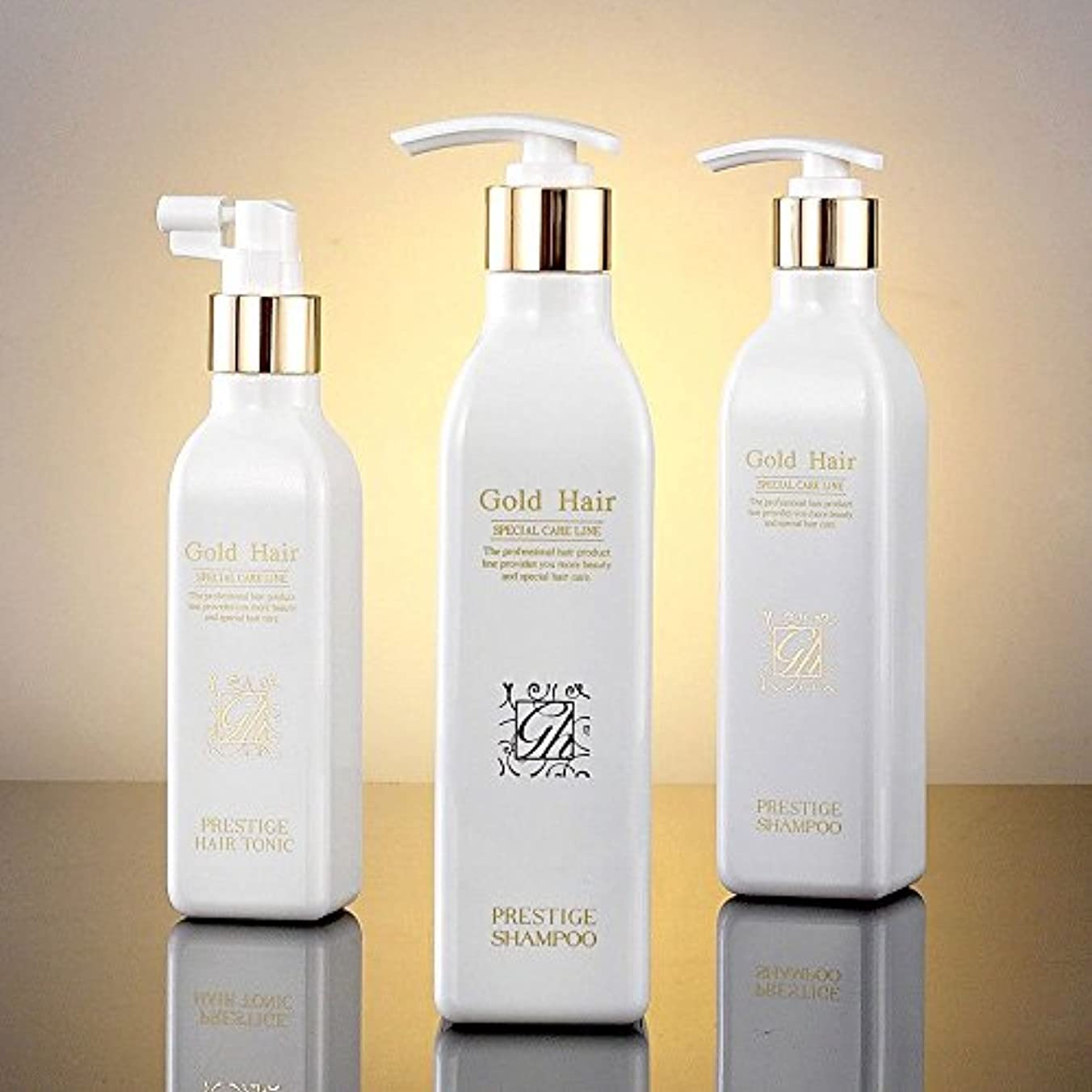 静的内なる引き出しゴールドヘア育毛シャンプー2個&トニック1個 漢方シャンプー /Herbal Hair Loss Fast Regrowth Shampoo 100% Natural Patented Set of 3(2 shampoo...