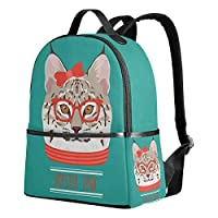 9e5ba43c7cd2 USAKI(ユサキ)かわいい 面白い 猫 キャット リンクス 猫柄 蝶結び ブルー,通学 通勤