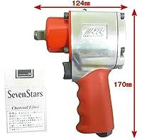 JTC 12.7mm パームインパクトレンチ エアー工具 インパクト ツインハンマー 調整付 1/2差込  12.7mm差込 JTC5001