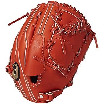 asics(アシックス) 軟式 少年野球用 グローブ ダルビッシュ モデル 投手 (右投げ用) プロフェッショナルスタイル BGJ7PQ サイズ大 Rオレンジ 指カバー付き 2017年モデル