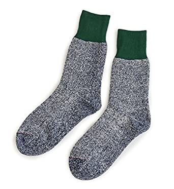 (ロトト)RoToTo DOUBLE FACE SOCKS 22-24 GREEN×M.NAVY