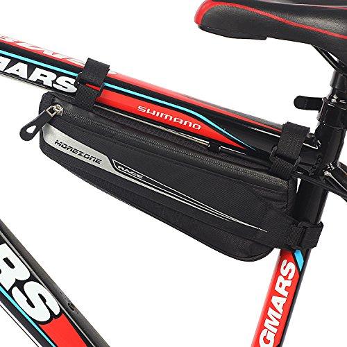 自転車 フレームバッグ ハンモック MOREZONE ロードバイク サドルバッグ ハンモック トップチューブバッグ (M)