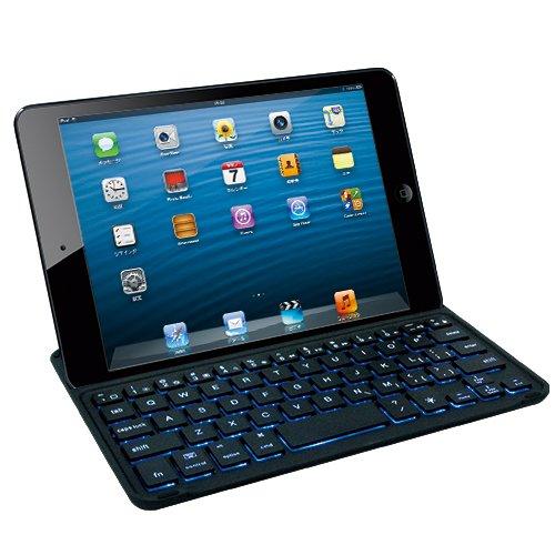 マグレックス Bluetooth キーボード アルミカバー for iPad mini ( ブラック / バックライト搭載 / MicroUSB ) MK8000-BK