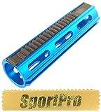 ARMY FORCE製 125 電動ガン メカボックス SVD R85 SR25用 ピストンスチール歯19枚 メタル製 - ブルー