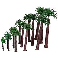 Dovewill 鉄道模型 箱庭用 プラスチック製 ストラクチャー 鉄道 風景 椰子の木 モデル 4.5‐17cm 6サイズ ミックス 18本セット
