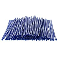Perfeclan スポーク ガード ドレスアップ スポークラップ オートバイ ホイール用 バイク用 75本入り 全10色 - 青と白