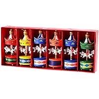 クリスマス木製カルーセルHangingクリスマスツリー装飾品ホーム装飾誕生日Xmas Present For Children by bornbayb ( Pack of 6 )