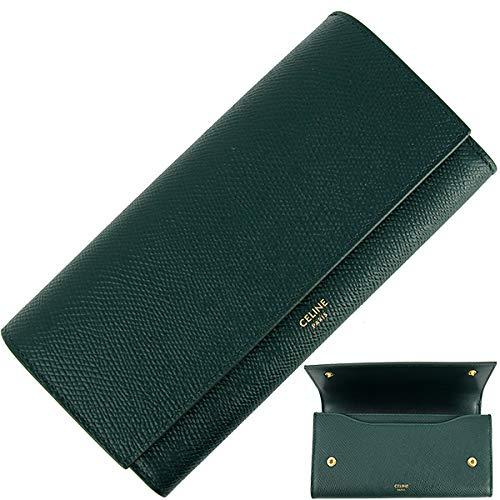 [セリーヌ] ラージフラップウォレット 二つ折り長財布 レザー レディース シンプル 財布 [並行輸入品]