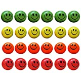 Neon Smile Face Relax Balls Stress Balls Pack of 12 Dazzling Toys
