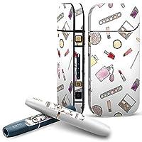 iQOS 2.4 plus 専用スキンシール COMPLETE アイコス 全面セット サイド ボタン スマコレ チャージャー カバー ケース デコ メイク おしゃれ 化粧 010909