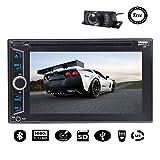 """Best EinCar DVDプレーヤー - 無料バックカメラ6.2"""" ダブル2ディンカーステレオDVDプレーヤータッチスクリーンのBluetooth SWC 1080PテレビカーラジオオーディオUSB/SD車両ステレオビデオダッシュCDプレーヤー(NO GPSナビゲーション)+リモートコントロールで Review"""