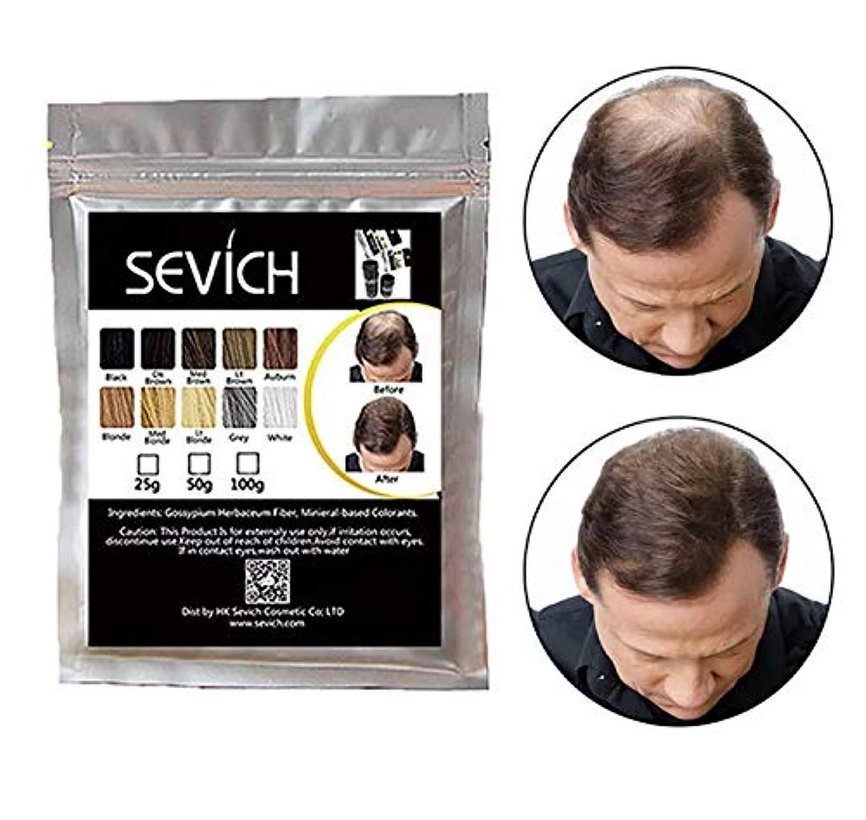 ユーザー適合する例ヘアビルディング 増毛パウダー ミディアムブラウン Medium Brown 100g 詰め替えパック/薄毛対策 白髪 ハゲ隠し Hair Fibers