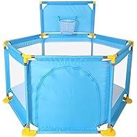 ベビープレイペンズ夏の折りたたみ強くて丈夫なクロールマット屋内遊び場 (色 : 青)
