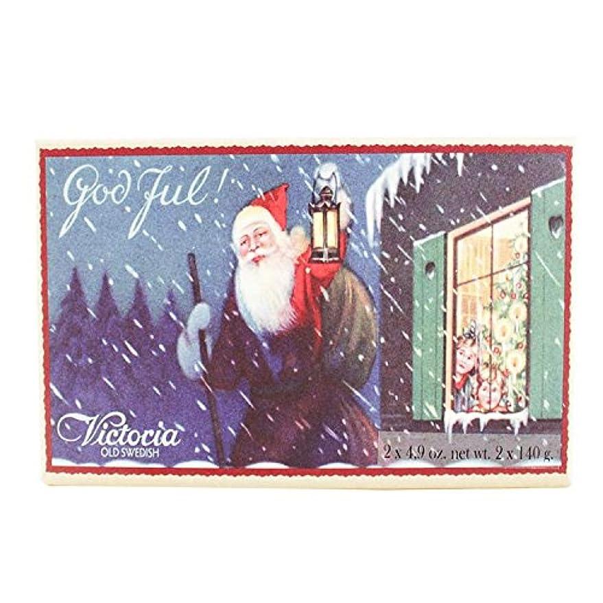 クレーター結果として薄いヴィクトリア クリスマス ソープ 140g×2