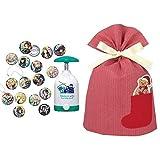 Canバッチgood! 鬼滅の刃セット + インディゴ クリスマス ラッピング袋 ポケットバッグL ベア レッド XG501