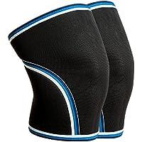 ZSZBACE膝保護具、スポーツ用膝パッド、温かい包帯、走るための滑り止め、運動、関節痛、関節炎および傷害の回復 (ブラック, XXL)
