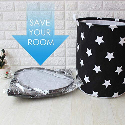 AAH Foldable Laundry Basket Cotton Linen Waterproof Storage Bin Basket Foldable Laundry Hamper,Home Organizer for Toy Bin,Kid's Hamper,Baby Clothing,Baby Nursery