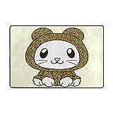 AyuStyle マット 玄関マット ドアマット ラグ カーペット 90×60CM 猫 ネコ 可愛い ラグマット ホットカーペット フロアマット 長方形 滑り止め付き