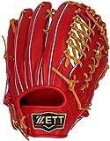 ZETT(ゼット) 野球 硬式 グラブ (グローブ) プロステイタス 外野手 右投用 レッド×ブラウン(6436) BPROG77