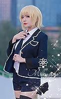 [milky time]ウィッグ付☆ Fate Apocrypha ルーラー ジャンヌダルク 風 制服 衣装 コスプレ コスチューム cosplay (L)