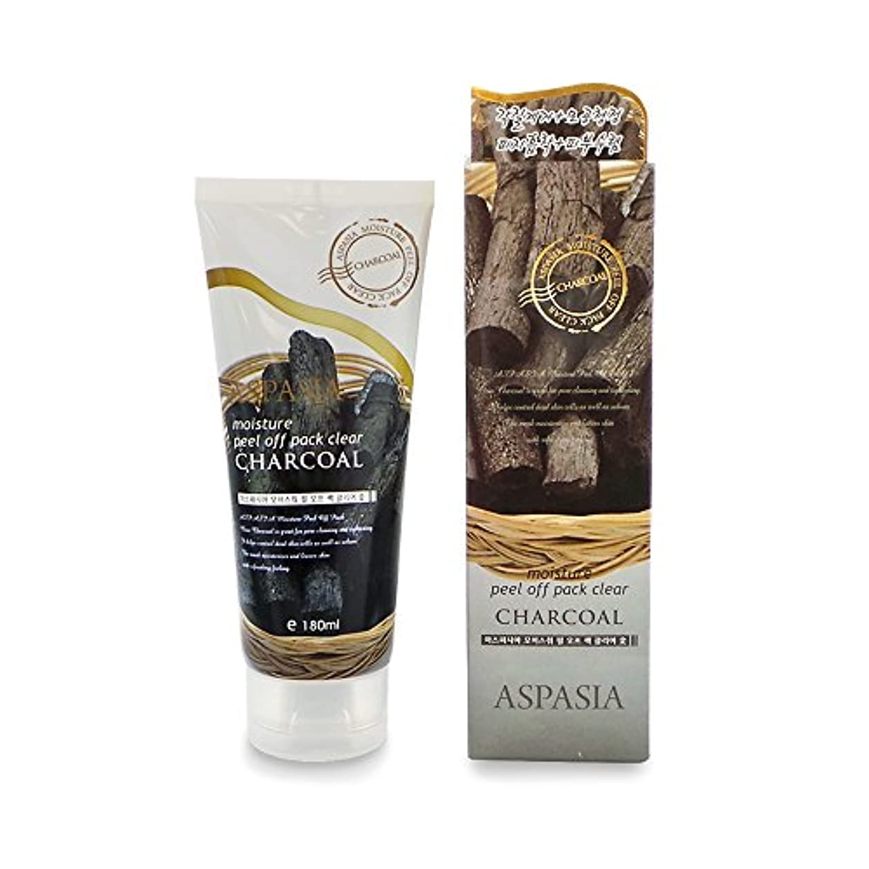(3 Pack) ASPASIA Peel Off Pack - Charcoal (並行輸入品)