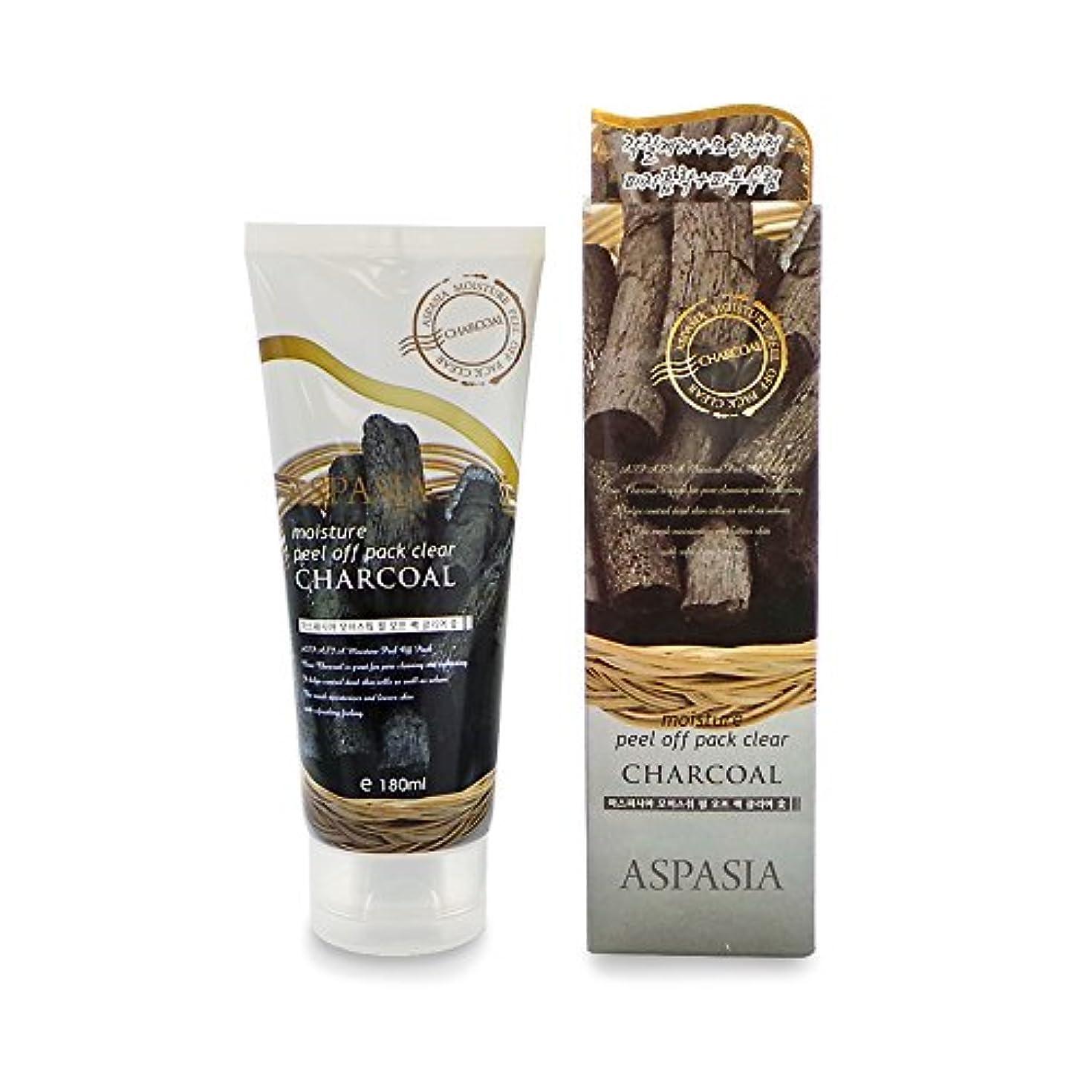 狭い光お酢(3 Pack) ASPASIA Peel Off Pack - Charcoal (並行輸入品)