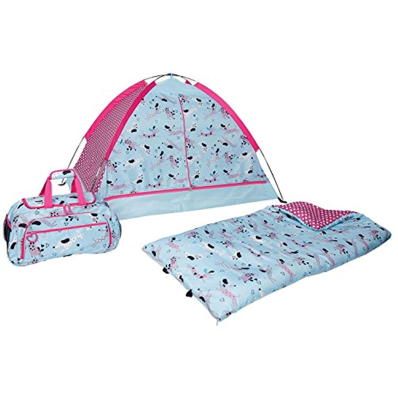 3ピースキッズインドアキャンプSlumber Set (犬)