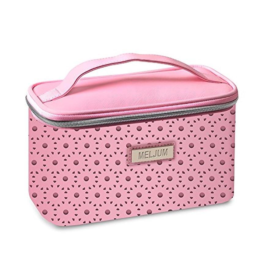 SNONNJ 化粧ポーチ コスメ ポーチ バッグ 機能的 大容量 化粧品収納 小物入れ 普段使い 旅行 出張 (化粧箱, ピンク)
