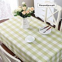 テーブルクロス シンプルな牧歌的な防水の格子縞のテーブルクロス長方形のコーヒーテーブルラウンドテーブルクロス (Color : B, Size : 120x180cm)
