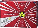 Callaway(キャロウェイ) ゴルフボール CHROME SOFT TRUVIS ゴルフボール(1ダース12個入り)2016年モデル  6421353122344 イエロー カバー:極薄ソフトウレタン コア(2層):デュアル・ソフト・ファスト・コア