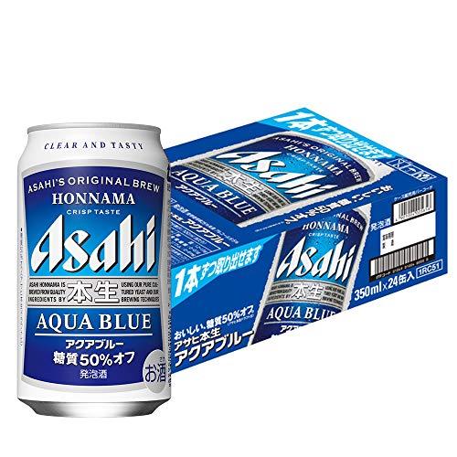 アサヒ本生 アクアブルー 糖質50%オフ 缶350ml