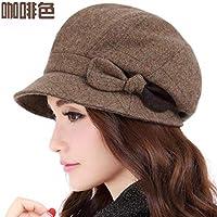 Women's Hat Ms Cap Berets Autumn Winter Style Lattice Beret (Color : Brown, Size : M)