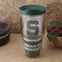 NCAA TervisタンブラーMichigan State Spartans 24oz。ラップTravel Tumbler with Lid