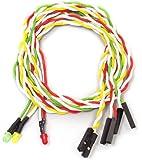 アイネックス ケ-ス用丸型LED3φ赤・黄・緑 LED-03MS