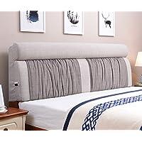Vercart ヘッドボード ヘッドガード クッション 新生活 洗えるカバー ベッド オシャレ 背もたれ インテリア ライトグレー 幅120cm 高さ60cm 奥行き12cm