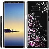 「Breeze-正規品」iPhone ・ スマホケース ポリカーボネイト [透明-White] Samsung Galaxy NOTE8 ケース SC-01K/SCV37 兼用 ギャラクシーノート8 galaxy note8カバー 液晶保護フィルム付 全機種対応 [GNT8]
